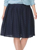 Chaps Plus A-Line Lace Skirt