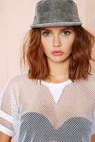 Nasty Gal Gear Up Leather Cap - Gray