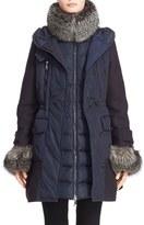Moncler 'Elestoria' Two-Piece Down Puffer Coat with Genuine Fox Fur Trim