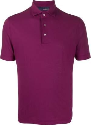 Lardini plain long-sleeved polo shirt