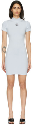 alexanderwang.t Blue Logo Patch Bodycon Dress