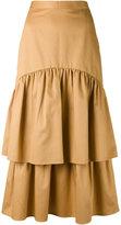 Maryam Nassir Zadeh Cala two tier skirt - women - Cotton - 4