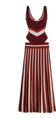 Gabriela Hearst Stand Striped Merino Wool Knit Dress