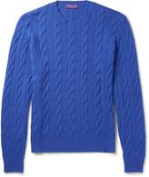 Ralph Lauren Purple Label - Slim-fit Cable-knit Cashmere Sweater