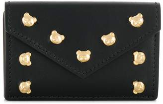 Moschino teddy studded wallet