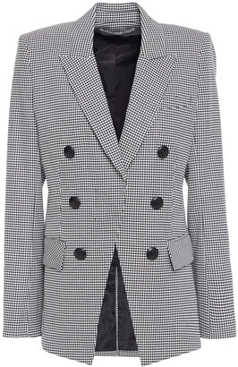 Veronica Beard Leon Double-breasted Houndstooth Woven Blazer
