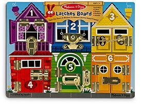 Melissa & Doug Wooden Latches Board - Ages 3+