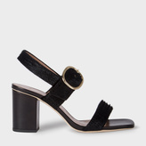 Paul Smith Women's Dark Navy Embossed Calf Hair 'Roz' Heeled Sandals