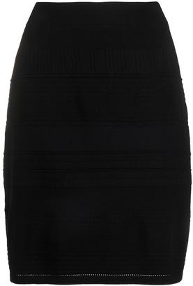 Steffen Schraut Patterned Knit Skirt