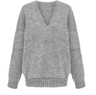 You By Tokarska Mia V-Neck Sweater Grey