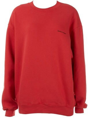 Balenciaga Red Cotton Knitwear