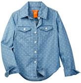 Joe Fresh Dot Print Shirt (Little Girls & Big Girls)