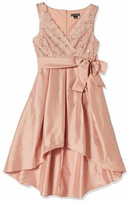 Jessica Howard JessicaHoward Women's High-Low Dress with Lace Bodice