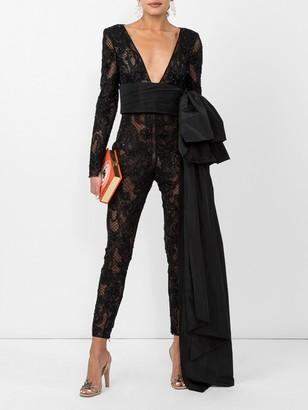Dundas Black Embellished Lace Jumpsuit