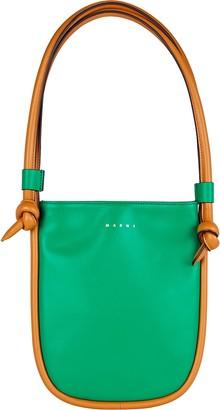 Marni Small Marcel Knot Leather Shoulder Bag