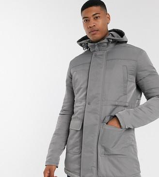 ASOS DESIGN Tall hooded jacket in grey