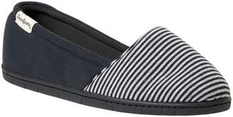 Dearfoams Women's Mini Stripe A-Line Slippers