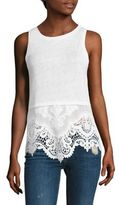 Generation Love Nancy Embroidered Silk blend Tank