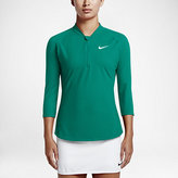Nike NikeCourt Dry Women's 3/4 Sleeve Half-ZIp Tennis Top