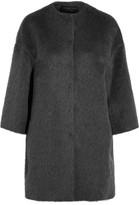 Giambattista Valli Llama And Wool-blend Coat - Gray