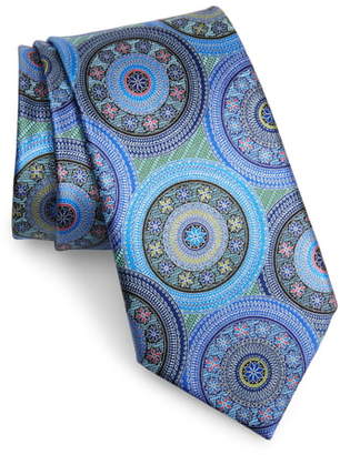 Ermenegildo Zegna Quindici Medallion Silk Tie