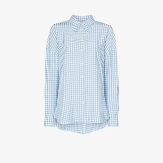 Tibi Button-Up Gingham Shirt