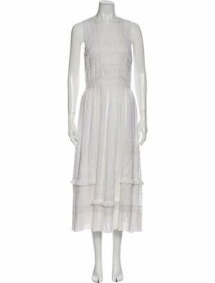 Ulla Johnson Silk Long Dress White