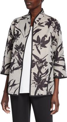 Caroline Rose Natural Beauty Jacquard Easy A-Line Jacket