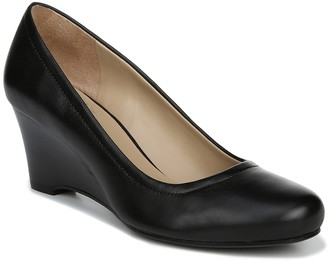 Naturalizer Hydie Leather Wedge Heel Pump - Wide Width Available