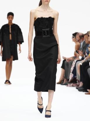 Carolina Herrera Strapless Embellished Sheath Dress