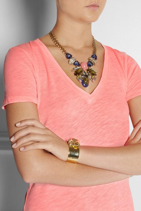J.Crew Symmetrical stone statement necklace