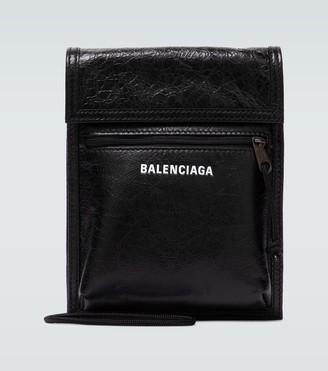 Balenciaga Explorer Arena leather strap pouch