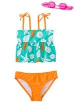 Jump N Splash Girls' Sassy Seashell TwoPiece Swimsuit w/ Free Goggles (4-6X) - 8143014