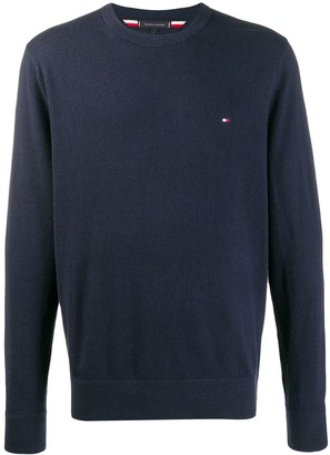 Tommy Hilfiger Embroidered Logo Crew Neck Sweater