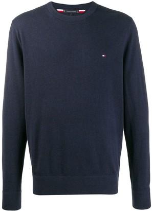 Tommy Hilfiger embroidered logo crewneck sweater