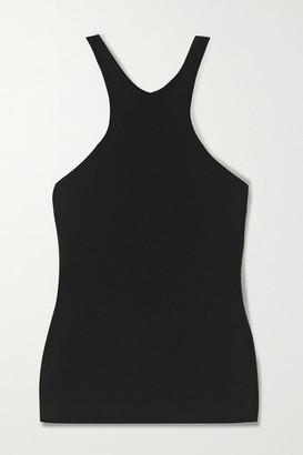 GAUGE81 Ribbed Cotton-jersey Tank - Black