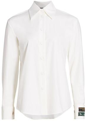 Gucci Logo-Cuff Poplin Button-Front Shirt