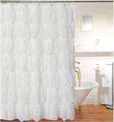 Asstd National Brand Layered Voile Shower Curtain