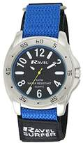 Ravel Men's Surfer 5ATM Velcro Quartz Watch with Black Dial Analogue Display and Multicolour Nylon Strap R5-11.6G