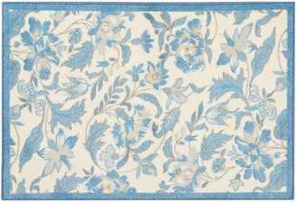 Waverly Great Expectation Blue Area Rug