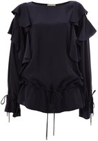 Lanvin ruffled sleeve blouse - women - Silk - 36