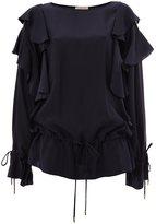 Lanvin ruffled sleeve blouse