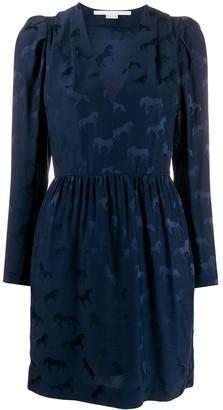 Stella McCartney Horse jacquard long-sleeved dress