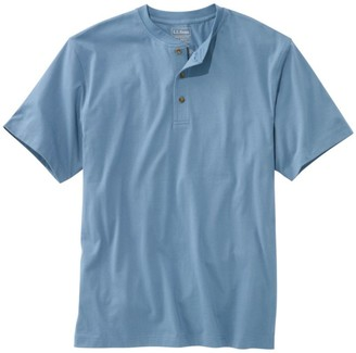 L.L. Bean Men's Carefree Unshrinkable Tee, Traditional Fit, Short-Sleeve Henley