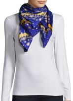 Saks Fifth Avenue Celestial Square Silk Scarf