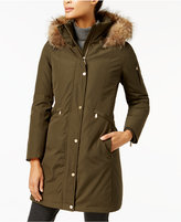 MICHAEL Michael Kors Coyote-Fur-Trim Down Parka