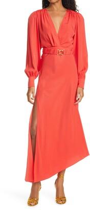 Ronny Kobo Estelle Long Sleeve Silk Blend Jacquard Dress