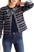 J.Crew Women's Tie Detail Tweed Lady Jacket
