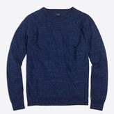 J.Crew Factory Textured cotton crewneck sweater