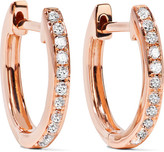 Anita Ko Huggy 18-karat Rose Gold Diamond Earrings - one size